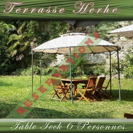 TERRASSE HERBE - TABLE 6-8 PERS