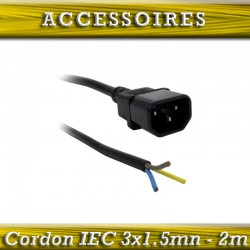 CABLE IEC MALE 3x1.5mn-2m